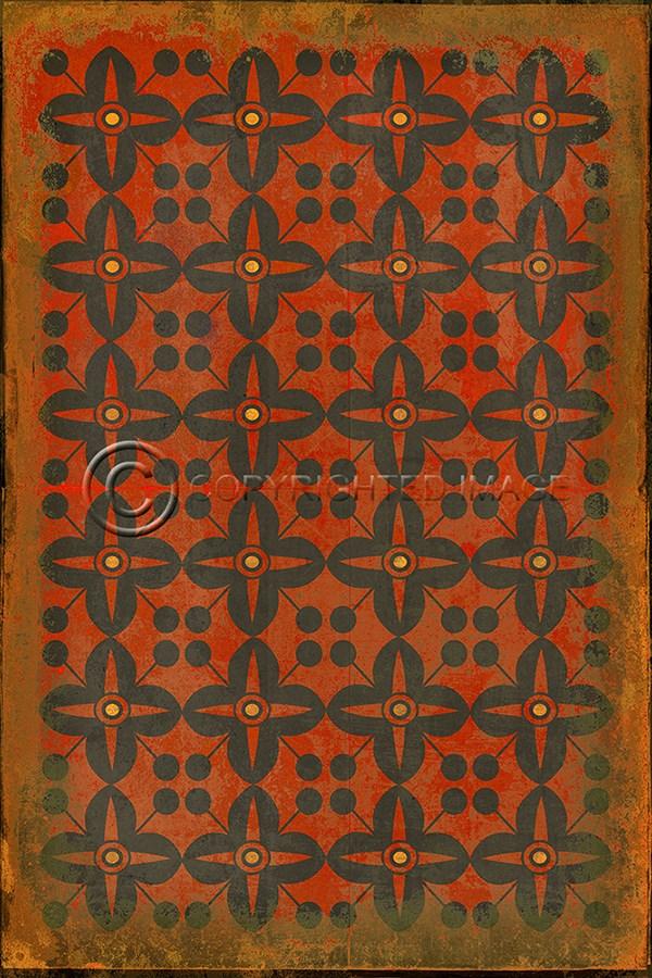 Spicher And Company Vintage Vinyl Floor Cloths Red Rum