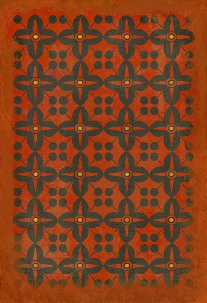 Red, Black Transitional Area Rug