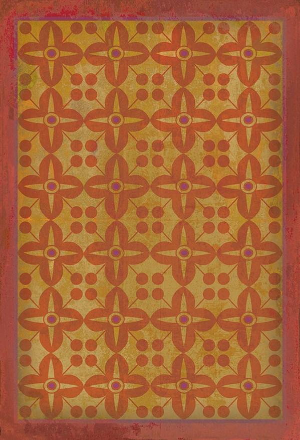 Orange, Gold Transitional Area Rug
