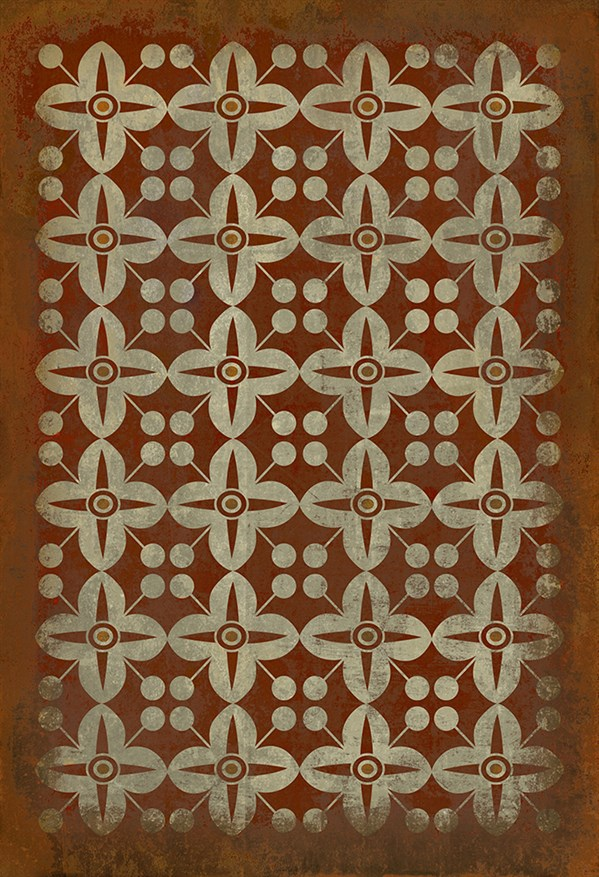 Rust, Ivory Transitional Area Rug