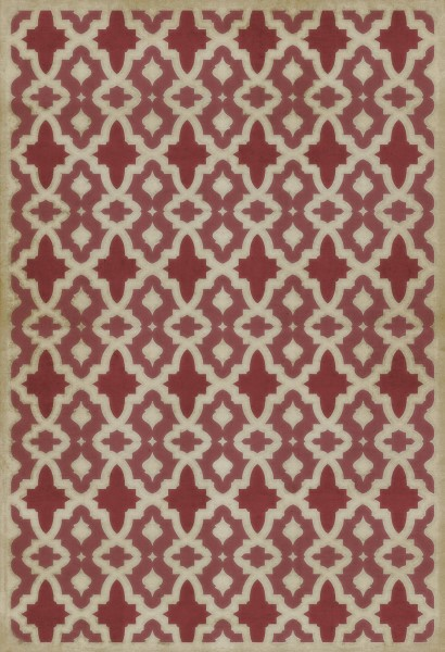 Brick Red, Ivory Transitional Area Rug
