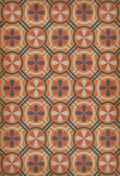Orange, Grey Transitional Area Rug