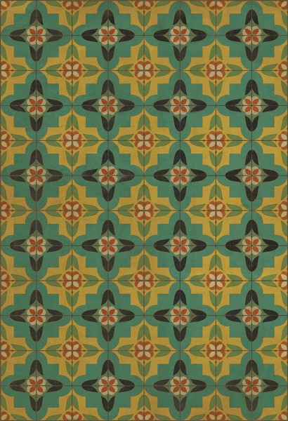 Green, Gold Transitional Area Rug