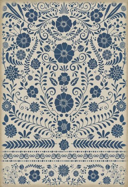 Blue, Ivory Outdoor / Indoor Area Rug