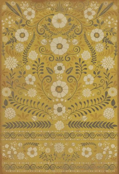 Gold, Ivory Outdoor / Indoor Area Rug