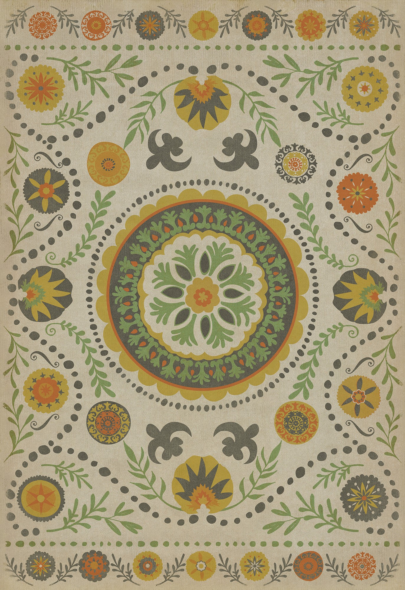 Spicher And Company Vintage Vinyl Floor Cloths Autumn Rugs Rugs Direct