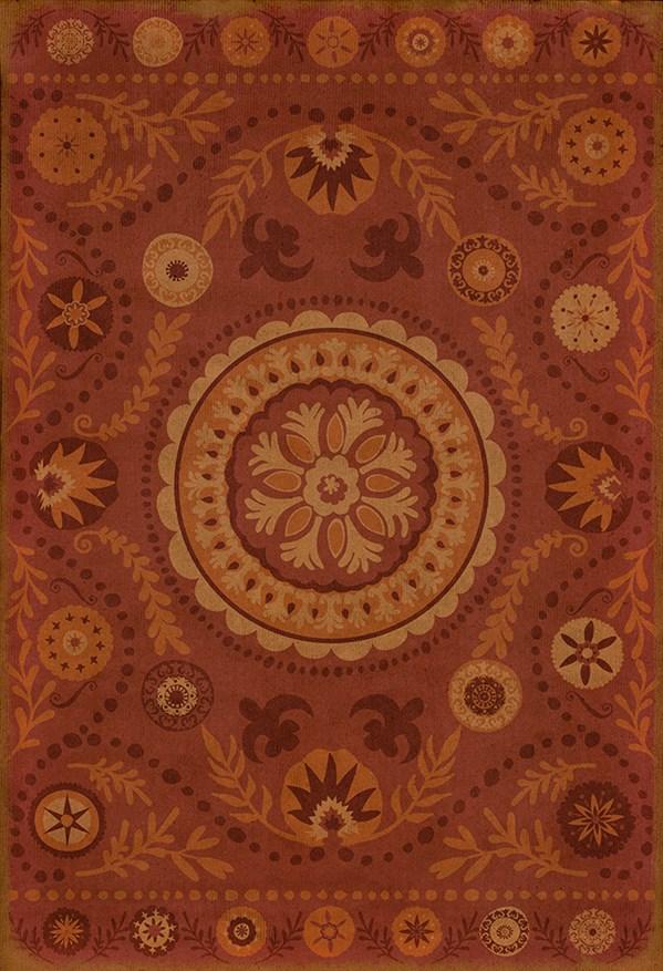 Crimson, Orange Outdoor / Indoor Area Rug
