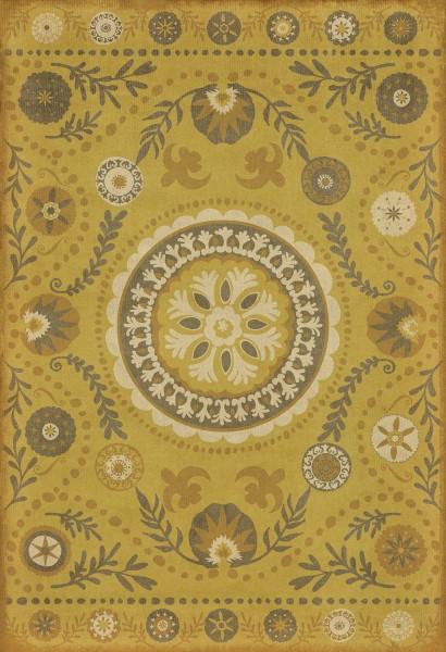Yellow, Brown Outdoor / Indoor Area Rug