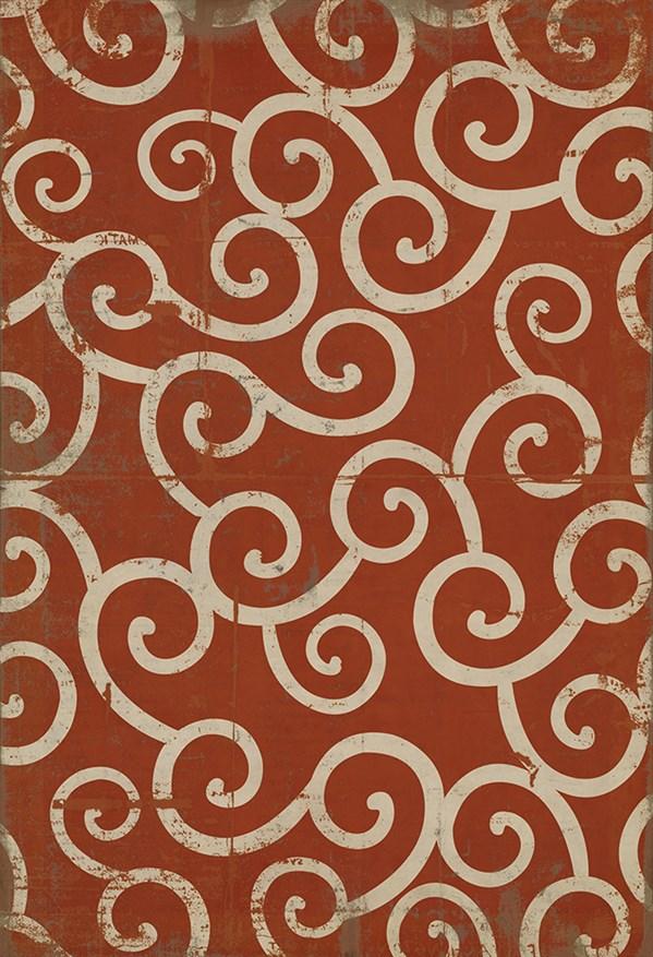 Orange, Ivory Transitional Area Rug