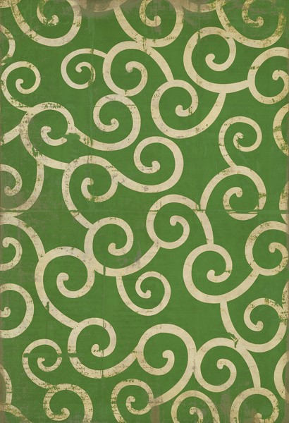 Green, Ivory Transitional Area Rug
