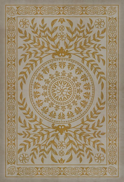 Gold, Ivory Transitional Area Rug