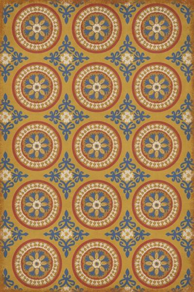Gold, Blue Contemporary / Modern Area Rug
