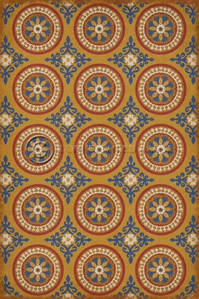 Gold, Blue Transitional Area Rug