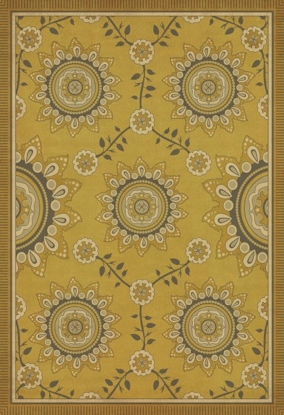 Gold, Ivory Contemporary / Modern Area Rug