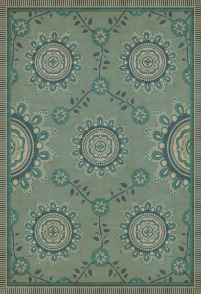 Aqua Transitional Area Rug