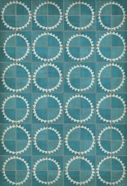 Blue, Ivory Transitional Area Rug