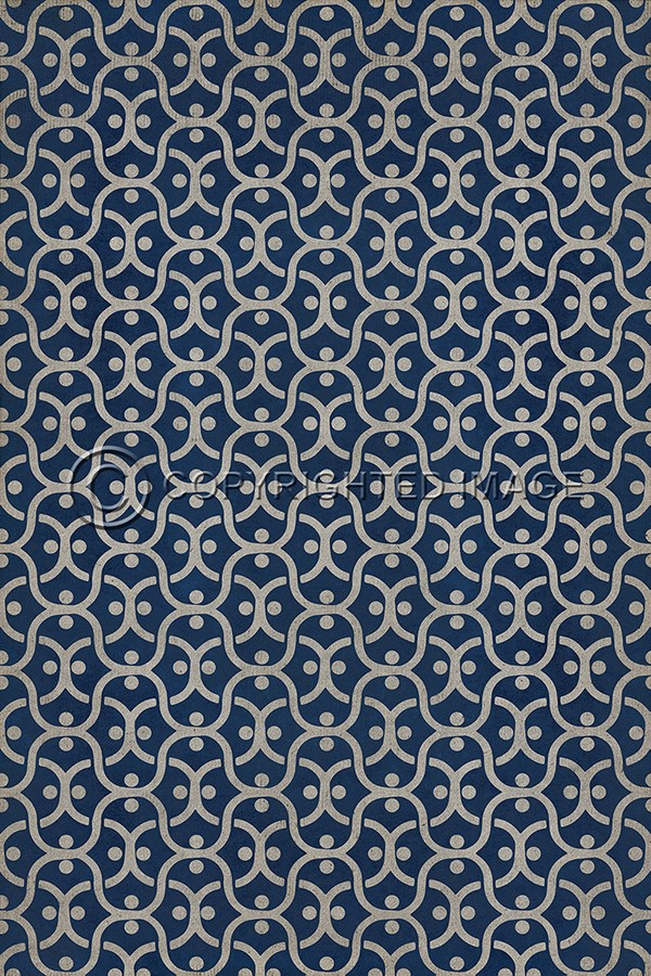 Navy Blue, Ivory Transitional Area Rug