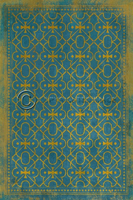 Blue, Gold Transitional Area Rug