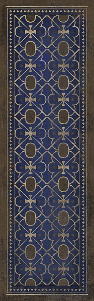 Royal Blue, Brown Transitional Area Rug