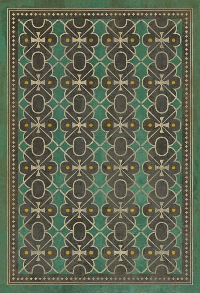 Emerald Green, Grey Transitional Area Rug