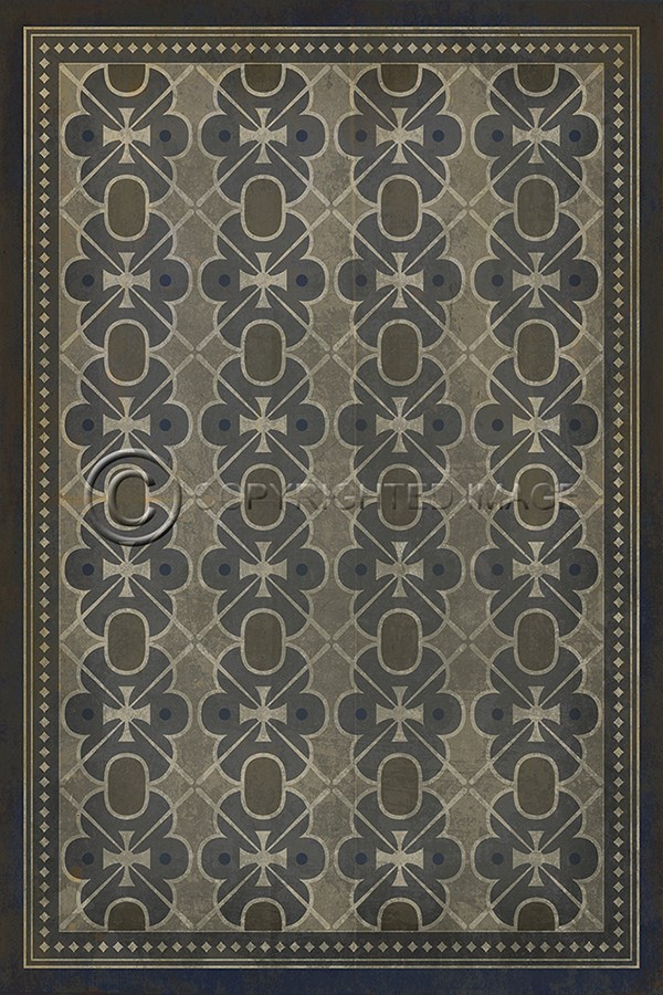 Spicher And Company Vintage Vinyl Floor Cloths London Fog