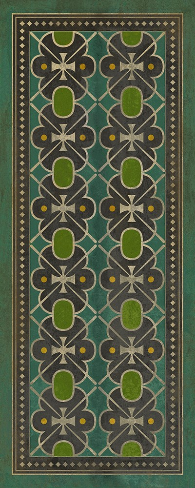 Emerald Green, Lime Green Transitional Area Rug