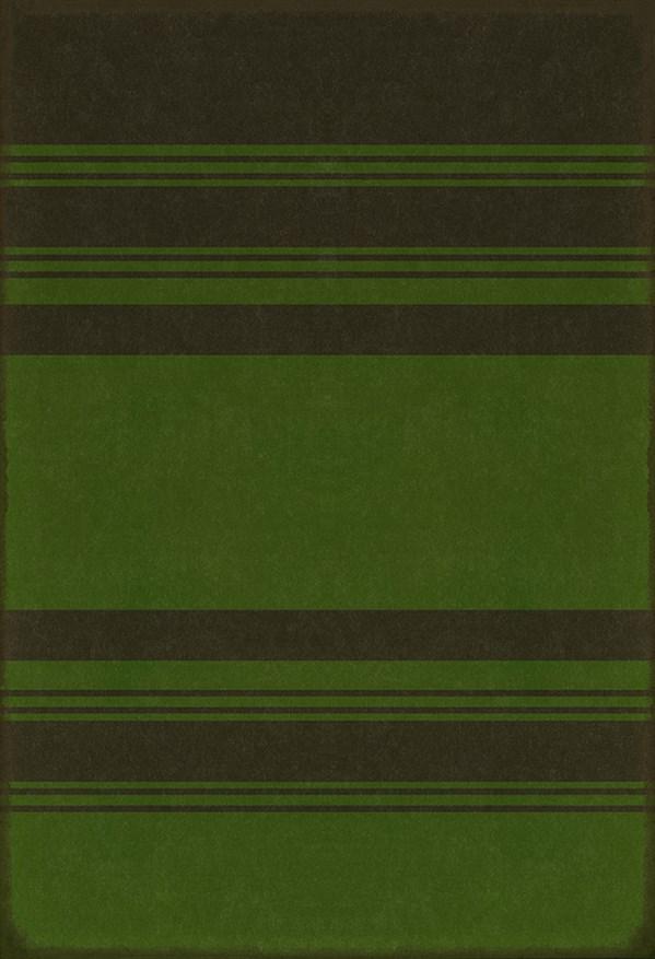 Black, Green Striped Area Rug