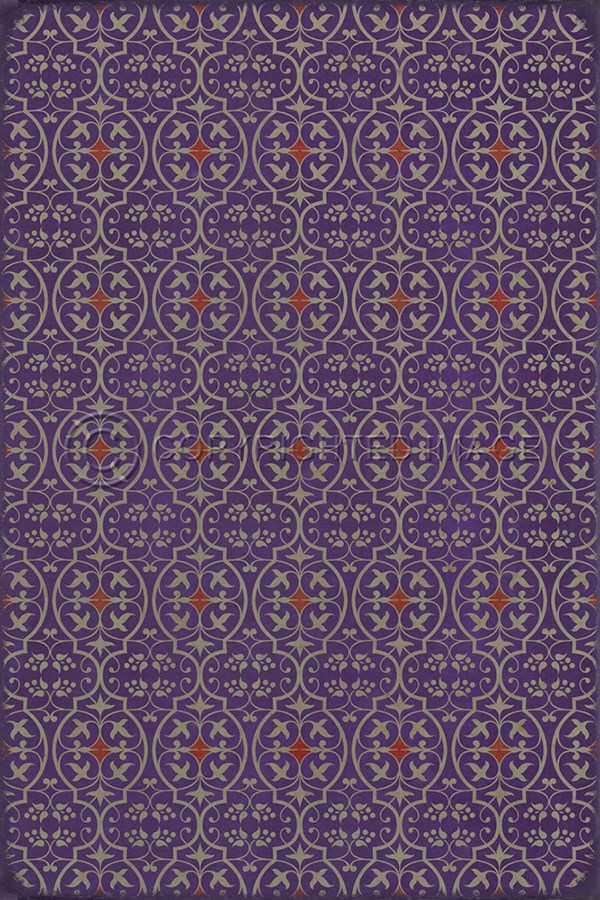 Purple, Red Transitional Area Rug