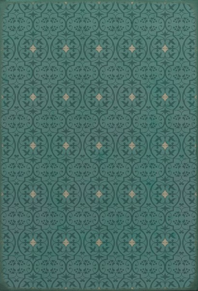 Teal Contemporary / Modern Area Rug