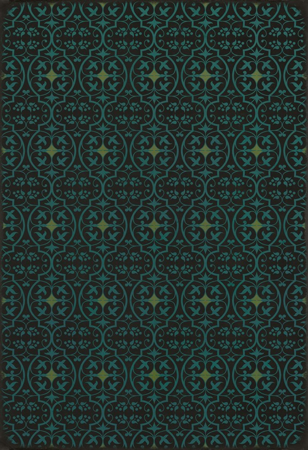 Black, Teal Transitional Area Rug
