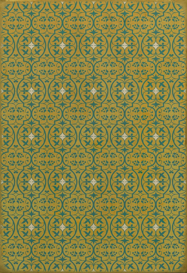 Yellow, Teal Transitional Area Rug