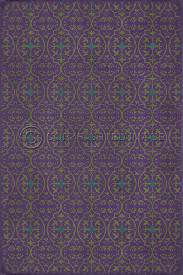 Purple, Teal Transitional Area Rug