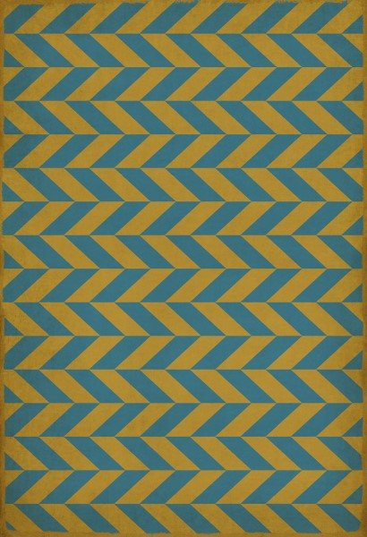 Gold, Blue Contemporary / Modern Area Rug