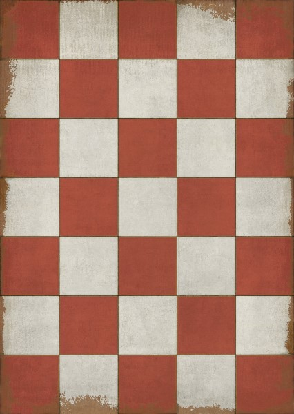 Red, Ivory Geometric Area Rug