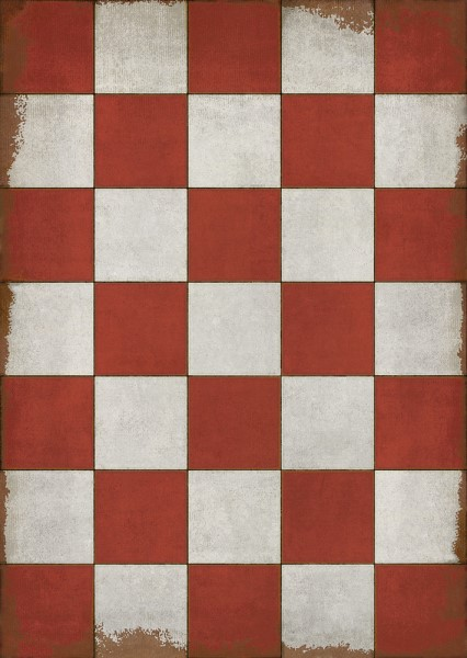 Red, Ivory Geometric Area Rug