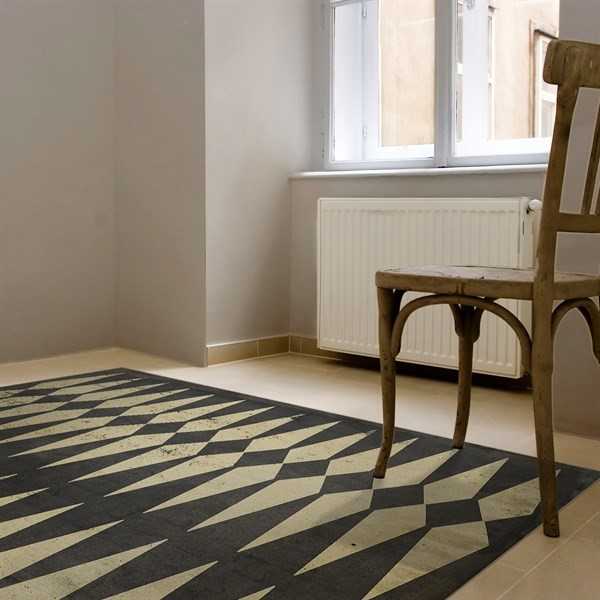 Antiqued Brown Transitional Area Rug
