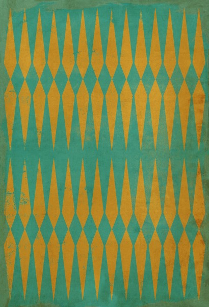 Green, Orange Contemporary / Modern Area Rug