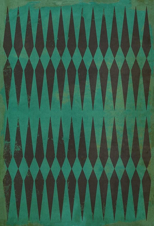 Green, Black Transitional Area Rug