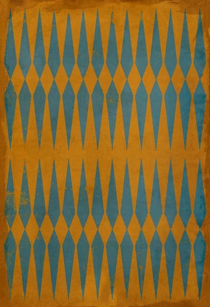 Orange, Blue Transitional Area Rug