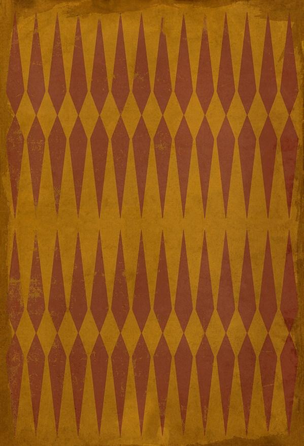 Orange Transitional Area Rug