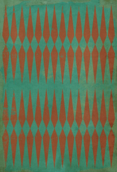 Teal, Red Transitional Area Rug
