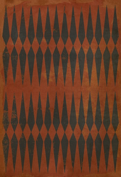 Orange, Black Transitional Area Rug