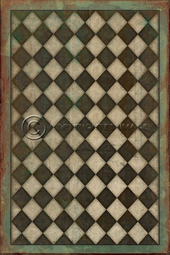 Vintage Vinyl Floor Cloths Checkmate arearugs