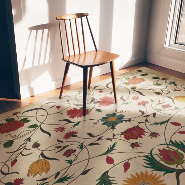Ivory, Red, Mustard (Abigail) Outdoor / Indoor Area Rug