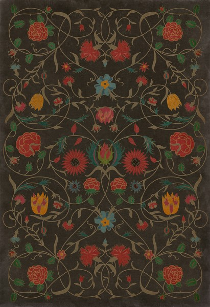Chocolate, Red, Green (Susannah) Outdoor / Indoor Area Rug