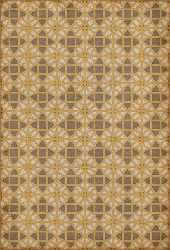 Gold, Grey, Cream (William Plummer) Outdoor / Indoor Area Rug