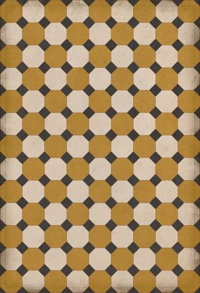 Gold, Cream, Black (Jefferson) Outdoor / Indoor Area Rug