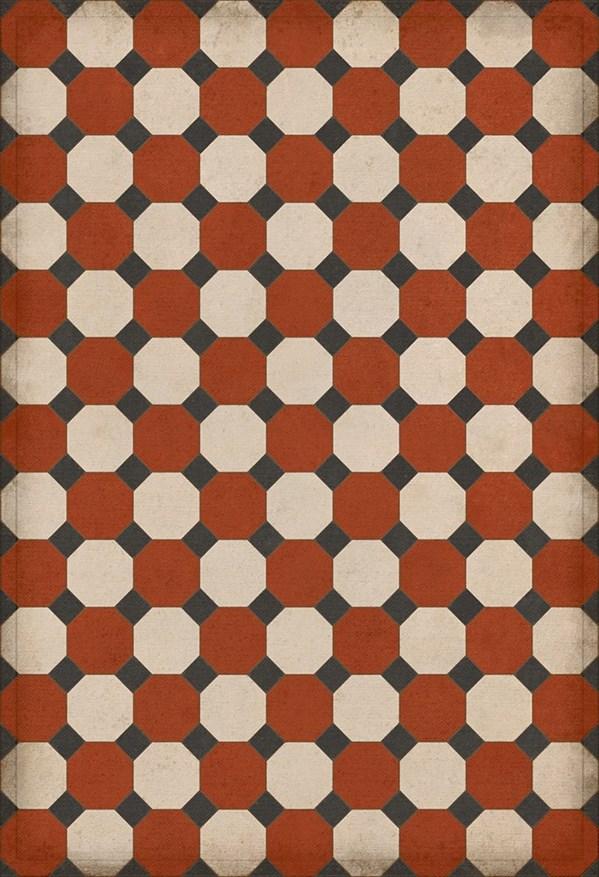 Red, Cream, Black (Lee) Outdoor / Indoor Area Rug