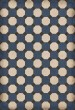Product Image of Outdoor / Indoor Blue, Cream, Distressed Black (Washington) Area Rug