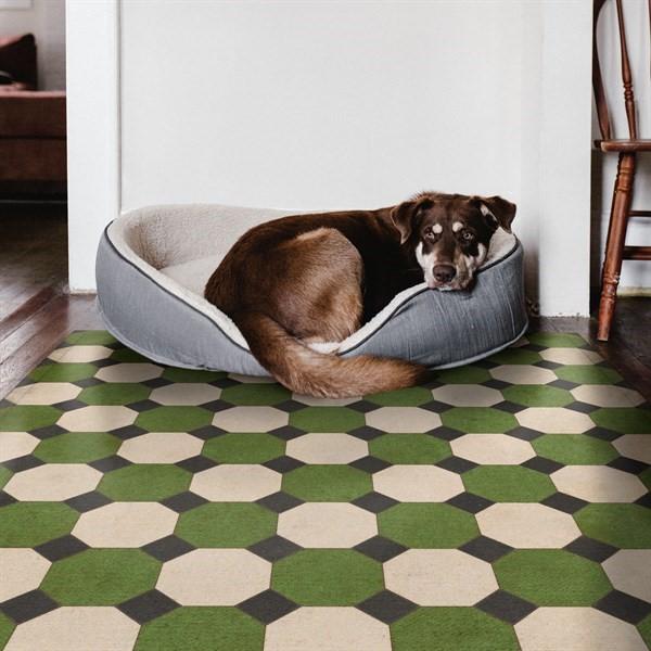 Green, Cream, Black (Wythe) Outdoor / Indoor Area Rug